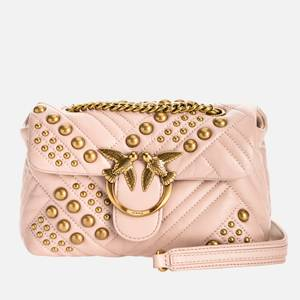 Pinko Women's Love Mini Puff Woven Studs Bag - Rose Dust Pink