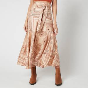 Free People Women's Hampton Wrap Skirt - Latte Combo