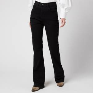 Free People Women's French Girl Flare Jeans - Misty Black