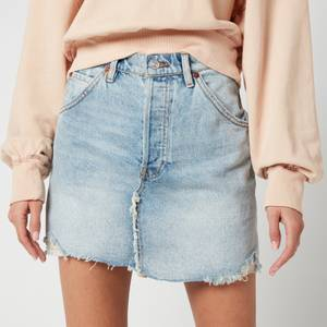 Free People Women's Brea Cut Off Skirt - Mile High Blue