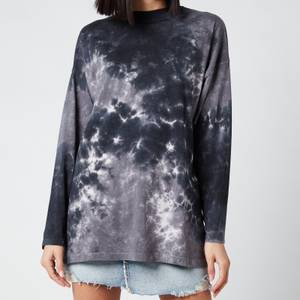Free People Women's Be Free Tie Dye Top - Charcoal Combo