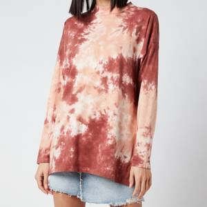 Free People Women's Be Free Tie Dye Top - Cabernet Combo