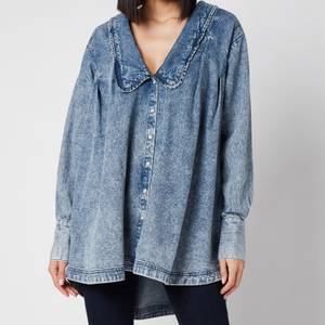 Free People Women's Charlie Denim Shirt - Lightest Indigo