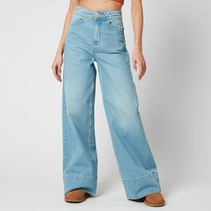 Free People Women's Talia Trouser Jeans - Bright Blue