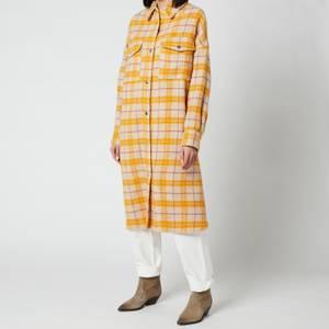 Isabel Marant Étoile Women's Fontia Long Shirt Jacket - Yellow