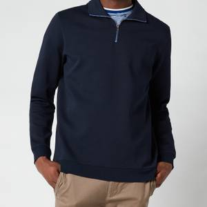 Ted Baker Men's Ayfive Half Zip Funnel Neck Polo Shirt - Navy