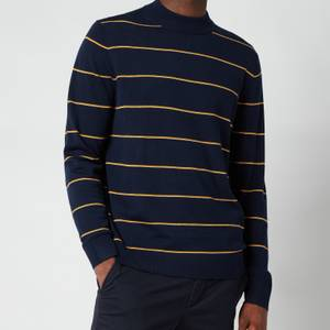 Ted Baker Men's Nocal Contrast Stripe Mockneck Sweatshirt - Navy
