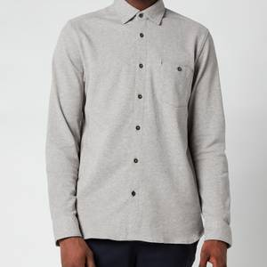 Ted Baker Men's Morty Textured Shirt - Grey Marl
