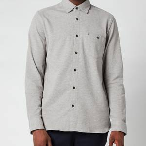 Ted Baker Men's Morty Textured Shirt - Grey Marl