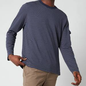 Ted Baker Men's Melted Striped Long Sleeve Top - Navy