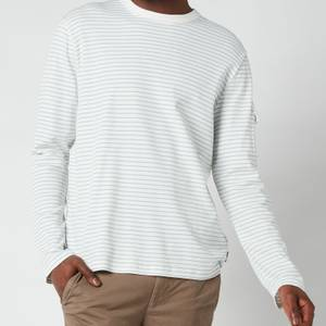 Ted Baker Men's Melted Striped Long Sleeve Top - White