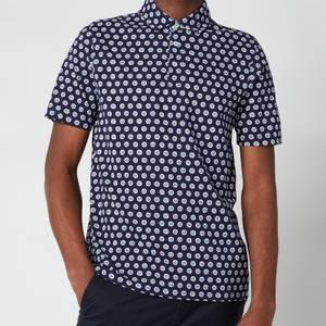 Ted Baker Men's Edaname Floral Printed Short Sleeve Shirt - Navy