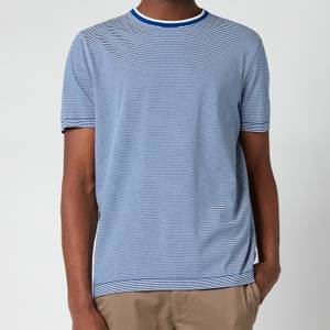 Ted Baker Men's Raki Fine Stripe Ribstart Crewneck T-Shirt - Blue