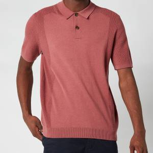 Ted Baker Men's Bump Knitted Polo Shirt - Pink