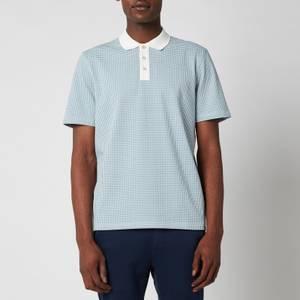 Ted Baker Men's Krane Raglan Sleeve Jacquard Polo Shirt - Blue