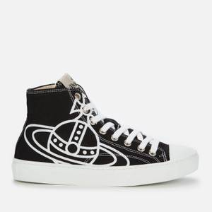 Vivienne Westwood Women's Vegan Hi-Top Trainers - Black