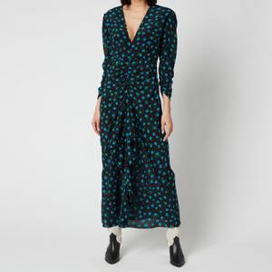 RIXO Women's Paloma Open Back Midaxi Dress - Multi Bloom Black Blue