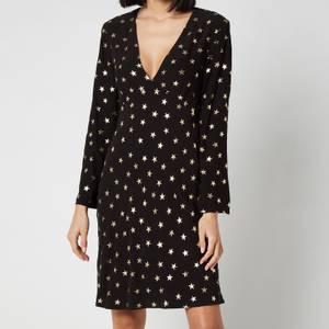 RIXO Women's Sophie Long Sleeve Mini Dress - Gold Foil Star