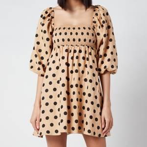 Faithful The Brand Women's Dallia Mini Dress - Emelda Dot Print/Biscuit