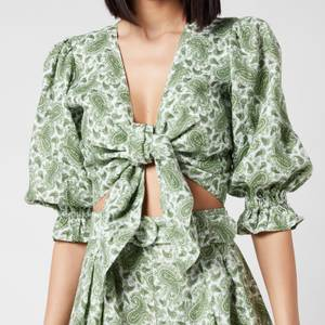 Faithful The Brand Women's Jacinta Top - Sable Paisley Print/Green