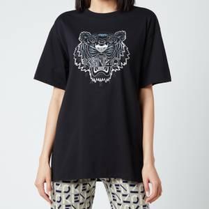 KENZO Women's Gradient Tiger Oversize T-Shirt - Black