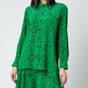 KENZO Women's Printed Soft Shirt - Green