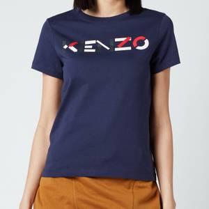 KENZO Women's Logo Multico Classic T-Shirt - Navy