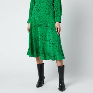 KENZO Women's Printed Midi Fluid Skirt - Green