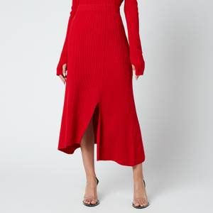 KENZO Women's Asymmetrical Midi Skirt - Medium red