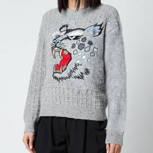 KENZO Women's Embroidered Jumper - Dove Grey