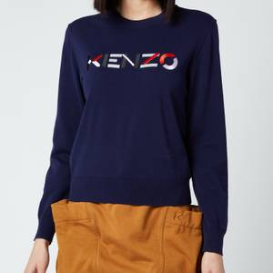 KENZO Women's Multico Classic Jumper - Navy Blue