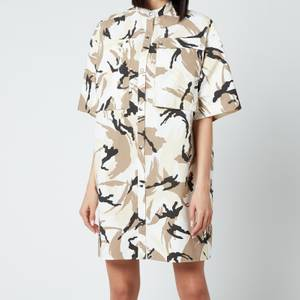 KENZO Women's Printed Shirting Dress - Off White