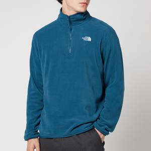 The North Face Men's Glacier 1/4 Zip Fleece - Monterey Blue