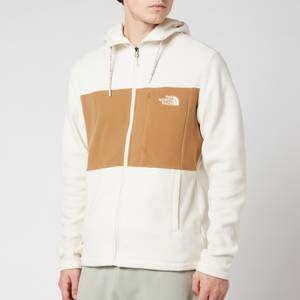 The North Face Men's Colourblocked Tka 100 Hooded Full Zip Fleece - Vintage White/Utility Brown