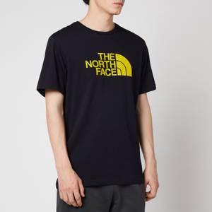The North Face Men's Easy Eu Short Sleeve T-Shirt - Aviator Navy/Citronelle Green