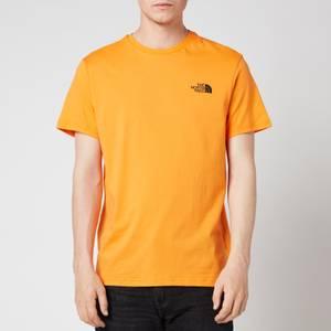 The North Face Men's Simple Dome Short Sleeve T-Shirt - Light Exuberance Orange