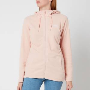 The North Face Women's Mezzaluna Full Zip Fleece Hoodie - Evening Sand Pink Stripe