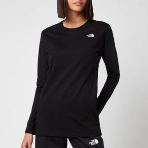 The North Face Women's Simple Dome Long Sleeve T-Shirt - TNF Black
