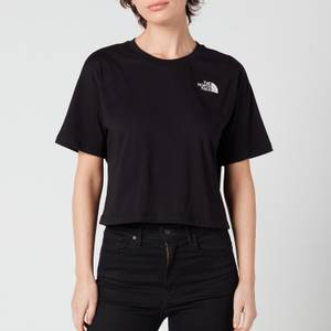 The North Face Women's Cropped Simple Dome Short Sleeve T-Shirt - TNF Black