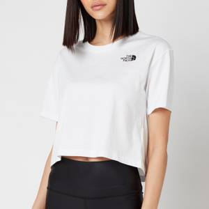 The North Face Women's Cropped Simple Dome Short Sleeve T-Shirt - TNF White