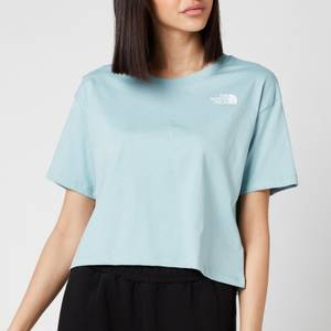 The North Face Women's Cropped Simple Dome Short Sleeve T-Shirt - Tourmaline Blue