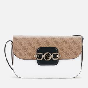 Guess Women's Hensely Mini Convertible Cross Body Bag - Latte Multi