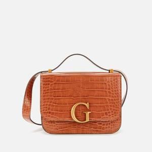 Guess Women's Corily Mini Convertible Cross Body Bag - Cognac