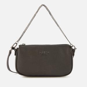 Guess Women's Mika Mini Double Pouch Cross Body Bag - Coal