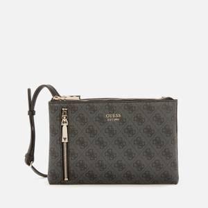 Guess Women's Naya Mini Double Zip Cross Body Bag - Coal