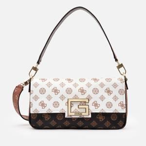 Guess Women's Brightside Shoulder Bag - Peony Logo Multi