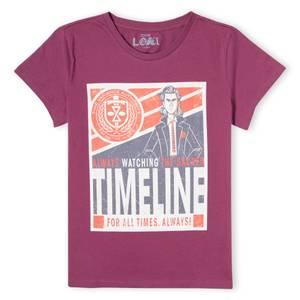 Marvel Timeline Women's T-Shirt - Burgundy