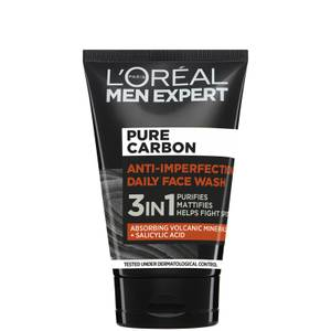 L'Oréal Paris Men Expert Pure Carbon 3-in-1 Daily Face Wash 100ml