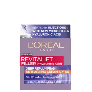 L'Oréal Paris Revitalift Filler Hyaluronic Acid Anti-Ageing SPF50 Day Cream 50ml
