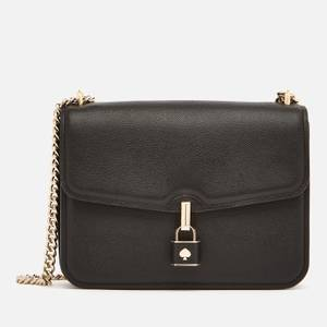 Kate Spade New York Women's Locket Large Flap Shoulder Bag - Black